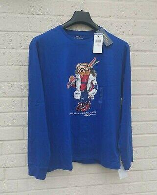 Authentic Polo Ralph Lauren Ski Bear Long Sleeve T-Shirt in Medium Mens...