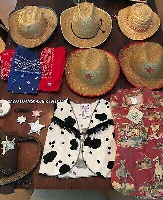Premium Kids Boys & Girls Cowboy Sheriff Costume Lot Gun Holster Vest Hats Shirt](Girls Cowboy Costume)