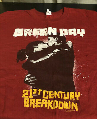 Green Day Concert Shirt 21st Century Breakdown Size 2xl