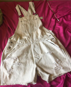NWT American Eagle jean short overalls
