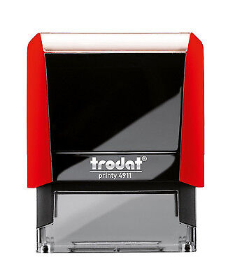 Red Office Stock Self-Inking Rubber Stamp TRODAT 4911 Ideal 50 FILE COPY