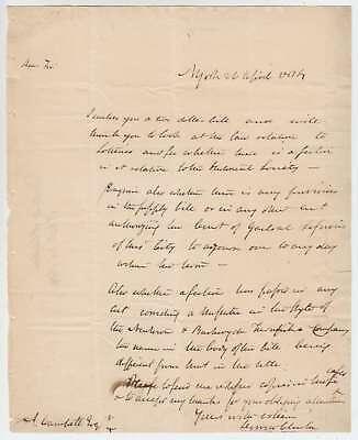 A2677: De Witt Clinton 1814 ALS, NY Mayor, Gov