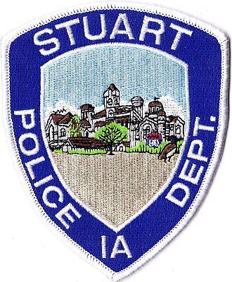 Stuart Police Department Iowa IA patch NEW