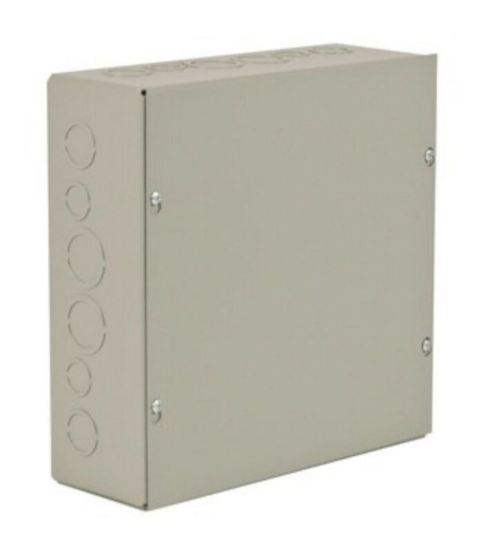 Wiegmann Nema 1 12x12x6 Screw Cover Wall-mount Carbon Steel (new)