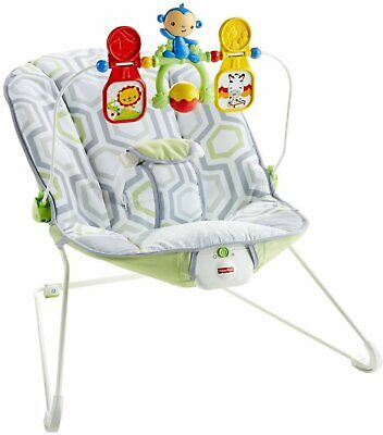 Fisher Price Baby's Bouncer Geo Meadow, OPEN BOX