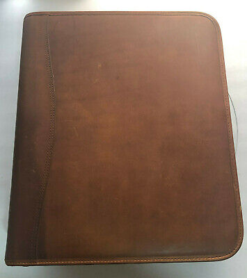 Leather Day Timer Planner Binder Classic 11 X13 X 2