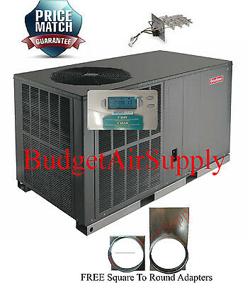 2 Ton 14- 14.5 augur Goodman HEAT PUMP Bundle Component GPH1424H41+Heat+Tstat+Sq2RD