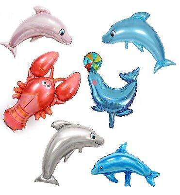 Sommerfest Folienballon Delfin Fisch Hummer Meerestiere Geburtstag Luftballon