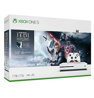 Xbox One S 1TB Star War Jedi Bundle(read description) - White