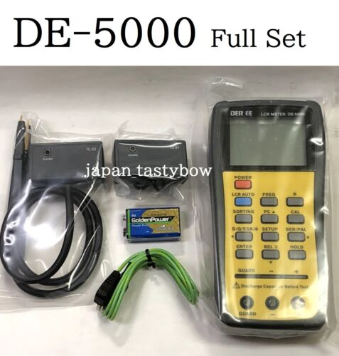 DER EE DE-5000 High Accuracy Handheld LCR Meter w/ TL-21 TL-22 TL-23 Tool Set
