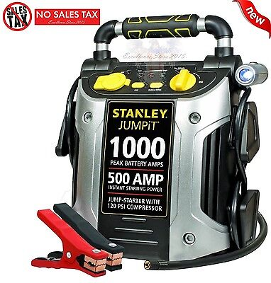 Battery Charger Air Compressor Auto Jump Starter Booster Portable Power Pack Car