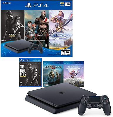 PlayStation 4 Slim 1TB Console - Only On PlayStation Bundle - Jet Black