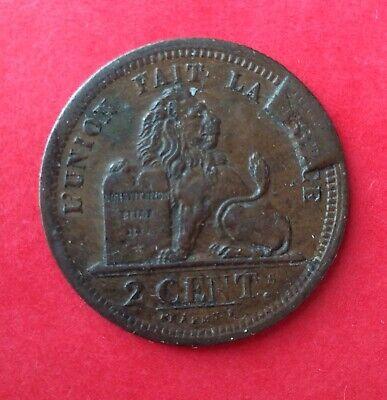 Belgique - Léopold Ier - Près de Sup. 2 centimes 1835 listel large sur cent Holl