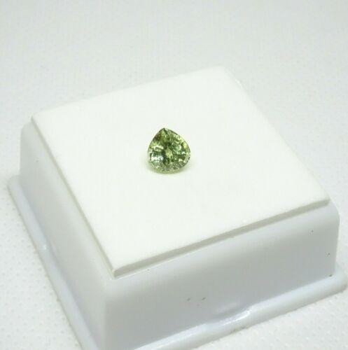 Green/Yellow Grossular Garnet - Pear - 1.07ct - 6mm Garnet Loose Gemstone
