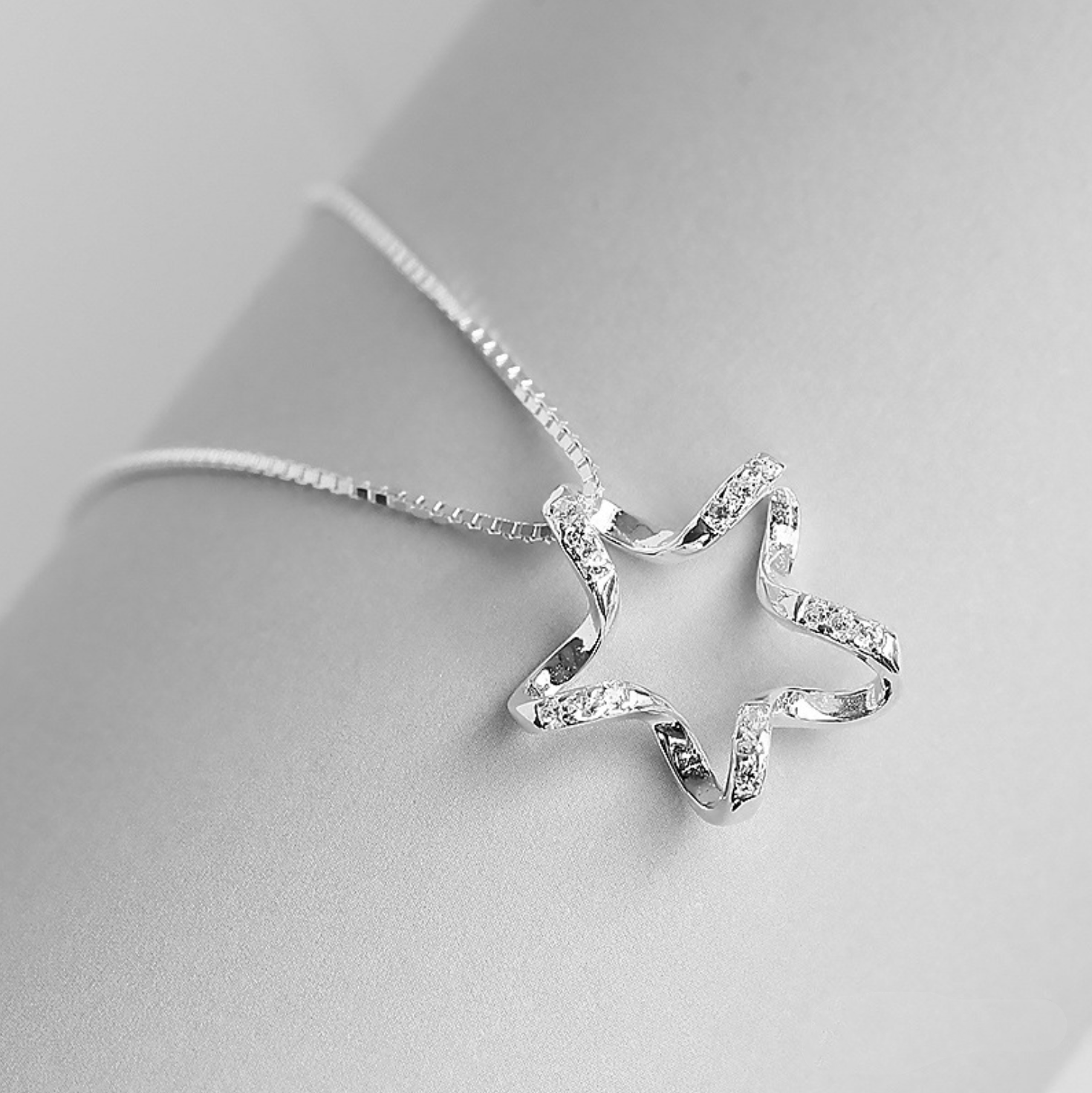 Jewellery - Star Winded 925 Sterling Silver Pendant Chain Necklace Womens Girls Jewellery UK