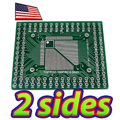 2x Double Sided QFP-32 to DIP-32 Adapter Breakout PCB Converter