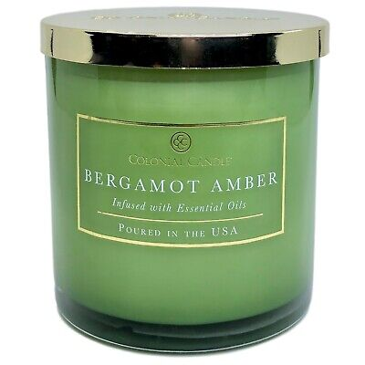Bergamot Amber  Scented Candle With Essential Oils Bergamot Candle Scent