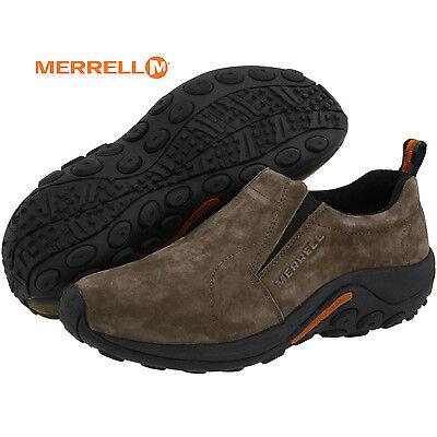 Mens Merrell Jungle Moc Slip On Gunsmoke Suede Comfy Shoes All Sizes Nib J60787