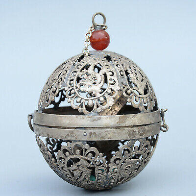 Collect China Old Miao Silver Hand-Carved Hollow Out Phoenix Noble Snuff Bottles for sale  Shipping to Canada
