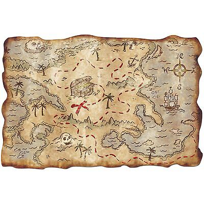 PIRATE TREASURE MAP KIDS PARTY TOY PIRATE GAMES ACCESSORY FOR PIRATE FANCY - Costume Party Games For Kids