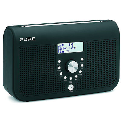 Pure One Elite Series 2 Black Stereo DAB Digital & FM Radio Inc Listen Later