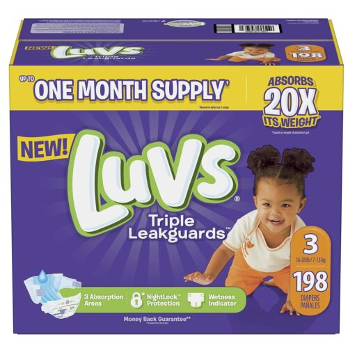 Luvs Ultra Leakguards Diapers Size3 , -198 ct. (16-28 lb.)