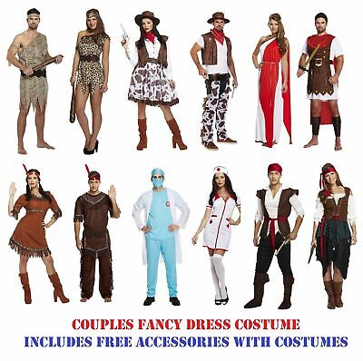 Adult Couples Fancy Dress Costume Outfit His Hers Mr Mrs Matching Ladies Mens - Couples Matching Halloween Costumes