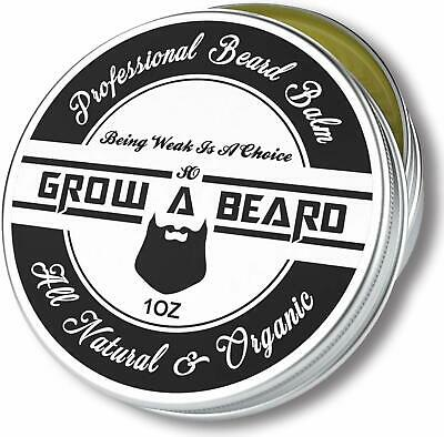 Beard Balm 1oz, Leave-in Conditioner  Softener for Men Care, Best Facial Hair (Best Leave In Conditioner For Men's Hair)
