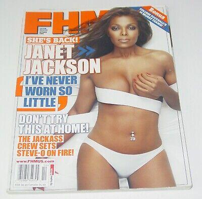 FHM Magazine October 2006 Photo Janet Jackson Steve-O Mike Schmidt Jackass