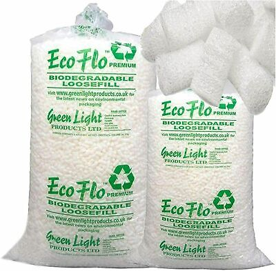 5 Cubic Feet Of Ecoflo Biodegradable Loose fill Packing Peanuts Chips FAST DEL