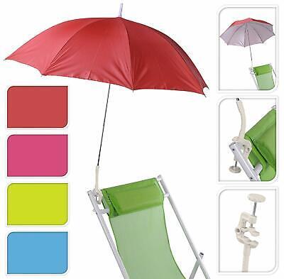 Sonnenschirm für Buggy Kinderwagen Sonnenliege 100 cm rot blau grün lila UV 50+