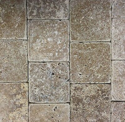 Noce 4x4 Tumbled Travertine Tile Backsplash Floor Wall (Sold by Square-foot)Bath Tumbled Travertine Tile