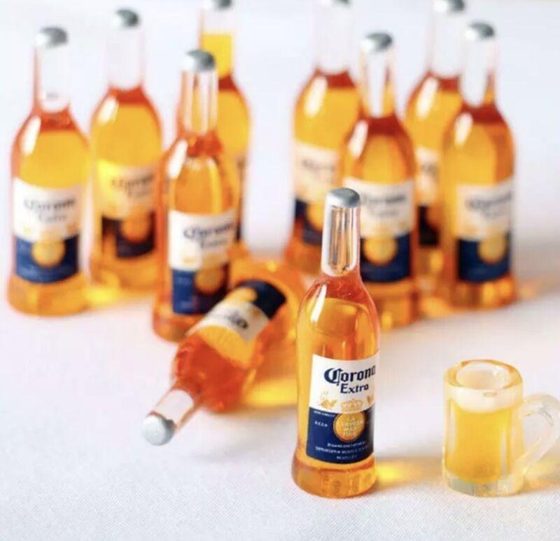 Dollhouse Miniature Beer Bottle Lot 👻🧲 (6) Pack Corona Bottles