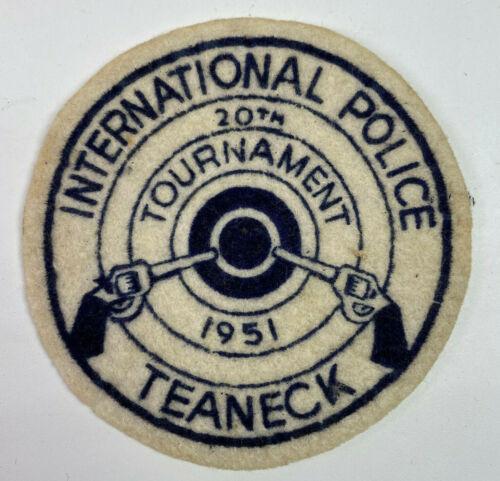 Teaneck Police 20th International Pistol Tournament 1951 New Jersey Patch (B3)