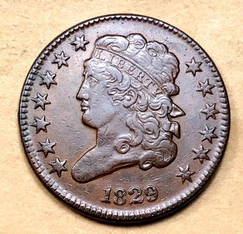 1829 Classic Head Half Cent  AU/UNC