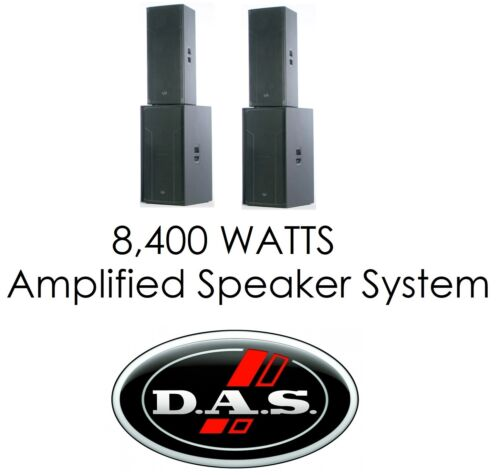 DAS D.A.S. Audio Action 525A Dual 15 Powered Speaker & S218S Dual 18 Sub Package
