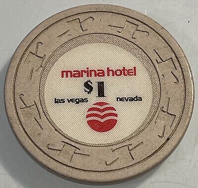 MARINA HOTEL $1 Casino Chip Las Vegas Nevada 3.99 Shipping