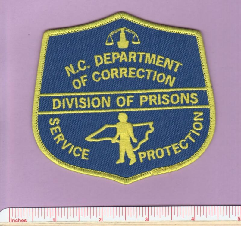 North Carolina NC State Department of Correction DOC Div of Prisons Police Patch