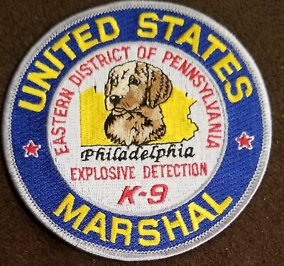 USMS US Marshals Philadelphia Explosive Detection Dog K9 Canine Cloth Patch
