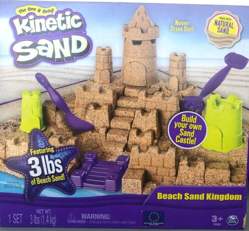Spin Master Kinetic Sand Build Your Own Beach Sand Kingdom-3 lbs. of Sand
