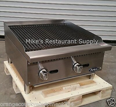 New 24 Rock Char Broiler Gas Grill Atosa Atcb-24 2543 Commercial Restaurant