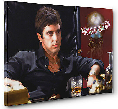 Al Pacino Scarface Gallery Wrapped Canvas Wall Art (Ready To Hang)