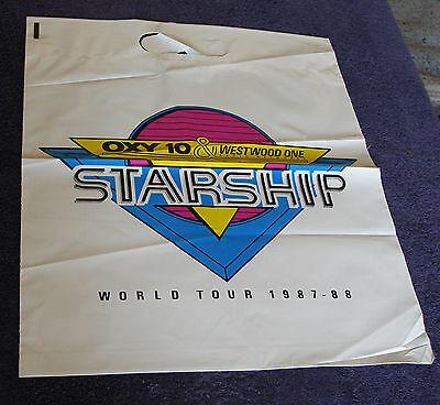 Jefferson Starship 1987-88 Westwood One Starship World Tour plastic Shopping Bag