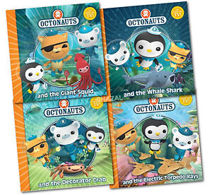 Octonauts Series 4 Book Collection Set Pack NEW PB Whale Shark, Decorators Crab