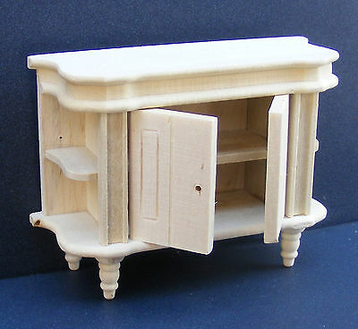 1:12 Scale Natural Finish Side Cupboard Dolls House Miniature Furniture 206