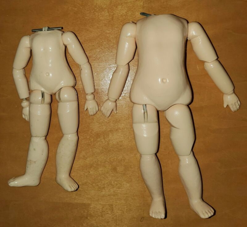 """ANTIQUE DOLL REPRODUCTION German Composition Bodies 7"""" & 8"""" Fully Jointed New"""