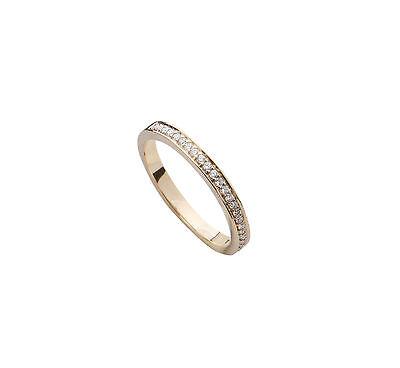 Diamond Wedding Engagement Ring Band 0.15 Carat Pave Women's 14k Yellow Gold (Gold Ladies Diamond Wedding Band)