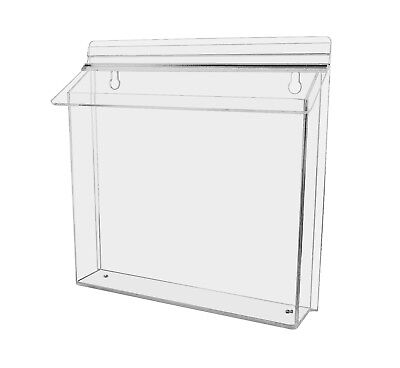 11w X 8.5h Landscape Outdoor Brochure Holder Display Literature Box Lot Of 12