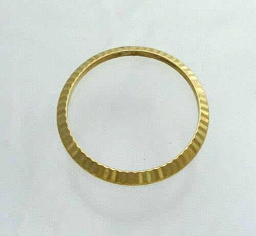 18k Yellow Gold Rolex Ladies Datejust 6927 6917 Fluted Watch Bezel Part