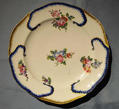Rare Antique French Sevres Porcelain Plate ~ 18th Century ~ C1750-1790 ~